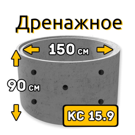 ЖБИ кольцо дренажное КС-15.9 - фото