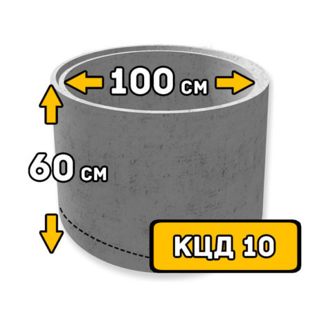 ЖБИ кольцо с днищем КЦД-10 - фото