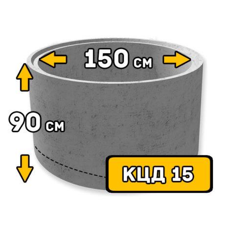 ЖБИ кольцо с днищем КЦД-15 - фото